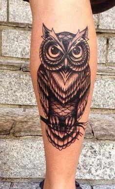 Owl Forearm Tattoo, Owl Eye Tattoo, Owl Tattoo Drawings, Shin Tattoo, Biker Tattoos, Military Tattoos, Dad Tattoos, Body Art Tattoos, Small Tattoos