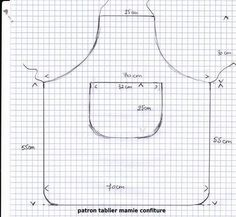 Patron tablier enfant - Pinboards Tutorial and Ideas Sewing Hacks, Sewing Crafts, Sewing Projects, Sewing For Kids, Free Sewing, Child Apron Pattern, Sewing Aprons, Apron Designs, Kids Apron