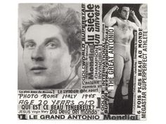 "Montreal, Canada, Anton ""The Great Antonio"" Barichievich (1925–2003) Untitled, Montreal, Canada, Before 2003, Printed photographs and clippings on cardboard, 9 x 9 1/8"", Great Antonio Collection, Darling Foundry, Montreal © Darling Foundry, Montreal"