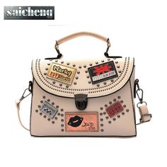 baa0a39b57 Cheap Women s Bags. Luxury Handbags Women Bags Designer Rivet Pu Leather