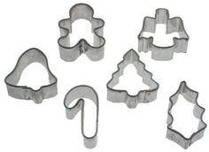 New Holiday Occasions 6 Piece Mini Metal Cutters Sets Cutter Set