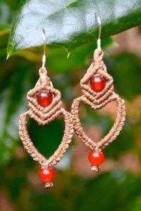 Rumi Sumaq Heart Macrame Earrings