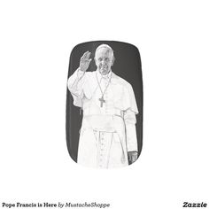 Pope Francis is Here Minx® Nail Art