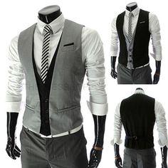 Men Fashion Slim Fit Vest