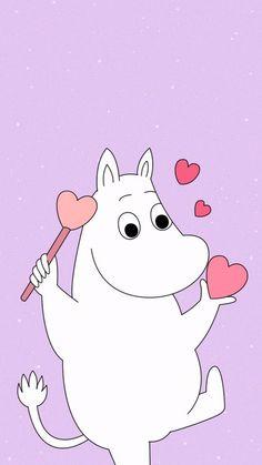 Moomin Wallpaper, Bear Wallpaper, Cool Wallpaper, Iphone Wallpaper, Vintage Cartoons, We Bare Bears Wallpapers, Tove Jansson, Cute Cartoon Wallpapers, Cute Characters