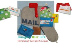 Mail Box Quiet Book Page Pattern with Commercial License for Sellers by ImagineOurLife