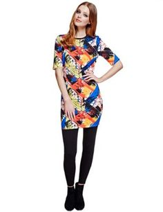 Art Paint Tunic Dress | M&S