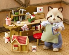 Sylvanian Families were really popular in the 1980's and early 1990's, mostly in the U.K. and Japan. I still have all of mine! They were by FAR the most detailed dollhouse toys at the toy store.