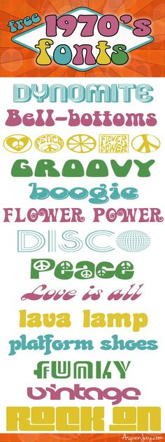 groovy-free-70s-fonts - Aspen Jay                                                                                                                                                                                 More