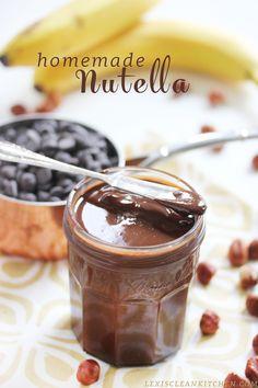 Homemade Nutella #glutenfree #dairyfree #paleo #vegan from Lexi's Clean Kitchen #ad