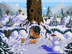 Winter Foxies