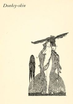 """""""Donkey-Skin"""" Title Page.     Harry Clarke Illustrations: The Fairy Tales of Charles Perrault"""