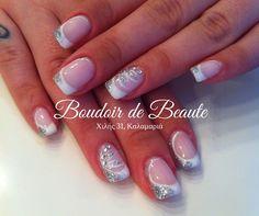French manicure + silver nailart! #nailart #nails #nailswag #nailsalon #kalamaria #skg #thessaloniki #beautysalon #beauty #naildesign #nailpolish #boudoirdebeaute #boudoir_de_beaute #manicure #nails_greece #nailsoftheday #nailporn #nailaddict  #french_manicure