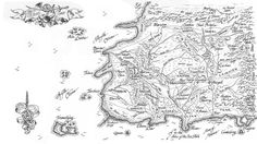 Map from Wheel of Time by Robert Jordan From: geek with