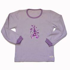 Remera Eiffel en interlock de algodón niña-ropa para chicos y bebes