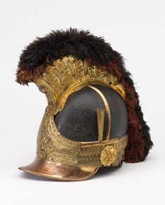 "holdhard: "" Officers' helmet worn by Captain (later Lieutenant Colonel) William Tyrwhitt Drake, Royal Regiment of Horse Guards, 1815 ©. It is thought that Drake wore this helmet when he fought at Waterloo in 1815 with Major-General Edward Somerset's..."