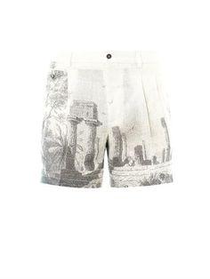 Dolce & Gabbana Temple-print hemp shorts €248
