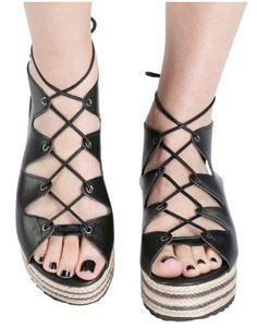ΝΕΕΣ ΑΦΙΞΕΙΣ :: Σανδάλια Flatforms Greek Unique Style Black - OEM Gladiator Sandals, Unique, Gold, Shoes, Style, Fashion, Swag, Moda, Zapatos