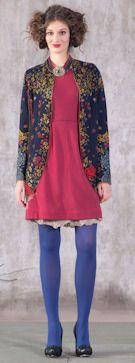 IVKO Woman`s Merino Wool Victorian Jacket Style 42502 039 NAVY