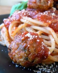 IThe Best Ever Meatballs..  Sadly, these are credited to Giada - the woman who doesn't eat (even on her show) the food she cooks (does she also not cook it?)