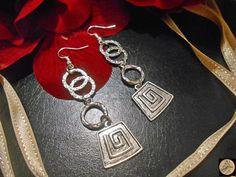 Greek symbol Earrings Boho jewelry Greek Meander Contemporary jewelry Symbol jewelry Geometric jewelry Handmade Bohemian Jewelry by Neda Hippie Bohemian, Bohemian Jewelry, Handmade Jewelry, Handmade Items, Unique Jewelry, Greek Symbol, Marriage Gifts, Geometric Jewelry, Boho Earrings