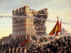 Fall of Constantinople The Fall of Constantinople (Greek: Άλωση της Κωνσταντινούπολης, Alōsē tēs Kōnstantinoupolēs; Turkish:İstanbul'un Fethi Conquest of Istanbul) was the capture of the. Istanbul, Fall Of Constantinople, Greek Soldier, Empire Ottoman, Sultan, Ottoman Turks, Empire Romain, Historical Pictures, Historical Concepts