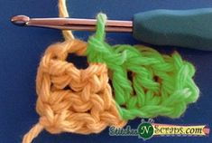 Tutorial – Diagonal Box Stitch: The diagonal box stitch is one of many stitches that can be worked from 'corner to corner' and it's everywhere right now. This wildly popular stitch is great for blankets, but can also be used for scarves, sweaters, or Crochet Ripple, Crochet Stars, Crochet Motifs, Crochet Square Patterns, Crochet Stitches Patterns, Knitting Patterns, Crochet Box Stitch, Stitch Box, Corner To Corner Crochet Pattern