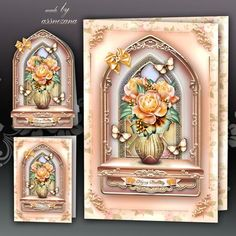 Orange Window Card Kit by Atlic Snezana Orange Window Card Kit: 4 sheets for print with decoupage for 3D effect plus few sentiment tags (for your own personal text)