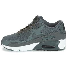 df9e7a1dfe1 Chaussures Garçon Baskets basses Nike AIR MAX 90 MESH GRADE SCHOOL Gris  Basket Nike, Air