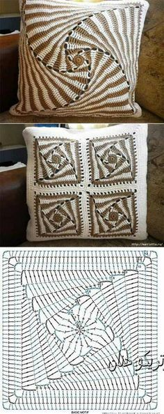 Transcendent Crochet a Solid Granny Square Ideas. Inconceivable Crochet a Solid Granny Square Ideas. Crochet Diagram, Crochet Chart, Crochet Motif, Crochet Designs, Crochet Doilies, Crochet Stitches, Spiral Crochet, Learn Crochet, Doilies Crafts