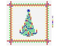 Christmas tree cross stitch pattern for cards and ornaments - Click Image to Close