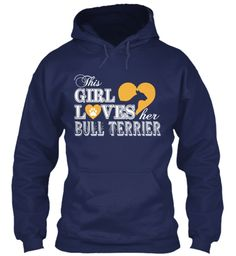 Ltd.Edition-Girl loves Bull Terrier | Teespring (in black)