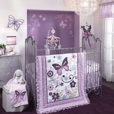 butterfly themed nursery for girls | ... Inspiration of Pinky Baby Girl Nursery Ideas For Cute Baby Girl