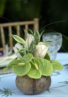 coconut centerpiece