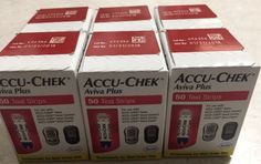300 Accu-Chek Aviva Plus Diabetic test Strips EXP 01/2018 New Sealed Mint Boxes