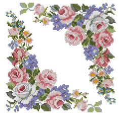 This Pin was discovered by İsm Cross Stitch Bird, Cross Stitch Borders, Cross Stitch Flowers, Cross Stitch Charts, Cross Stitch Designs, Cross Stitching, Cross Stitch Embroidery, Embroidery Patterns, Cross Stitch Patterns