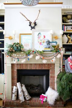 Eclectic Christmas Mantel