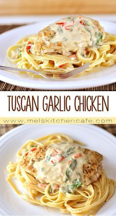 This Tuscan Garlic Chicken is an Olive Garden knockoff that gives the real deal a run for it's money!