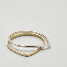 Single Stacking Droplet Ring - Recycled Metal