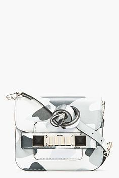 PROENZA SCHOULER Grayscale Leather Tiny PS11 Shoulder Bag