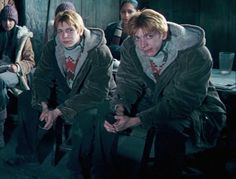 Fred and George Weasley in Winter
