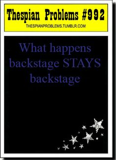 The thing that happened with Me, Hailey, and Trey in aristocats backstage!
