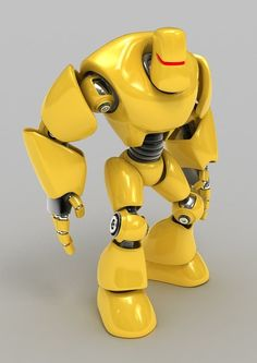 Yellow somewhat cartoony robot - NO LONGER AVAILABLE