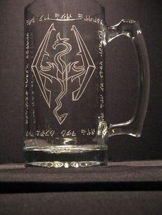 Skyrim The Elder Scrolls inspired Beer Mug by WastedTalentDesigns Elder Scrolls Games, Elder Scrolls Skyrim, The Elder Scrolls, Juegos Offline, Marvel Comics, Take My Money, Geek Out, Just In Case, Cool Stuff