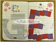Letters of the alphabet activity notebook (letter E page)