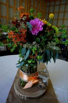 Table design. .. flowers by Tina Daniel