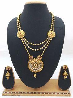 Latest Indian Bollywood Designer Kundan Pearl CZ Pink Necklace Earrings 3pc Set #ShouryaExports #EthnicandContemporary