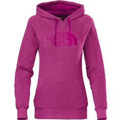 North Face Half Dome Hoodie Womens CG9J-CSE Dramatic Plum Pullover Hoody Size L