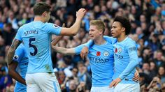 Manchester City powered on at the top of the Premier League with a convincing win over Arsenal at the Etihad Stadium. Kevin De Bruyne ran the show. City Elite, Zen, John Stones, Soccer Guys, Pep Guardiola, English Premier League, Billionaire Boys Club, Super Sport, Manchester City
