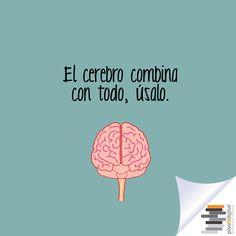 """#Piso9digital #frasedeldía """"El cerebro combina con todo, úsalo"""""""